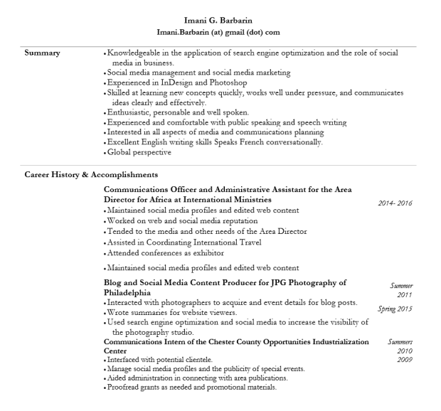 resume pic1